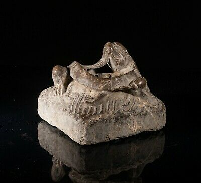 Chinese Antique Han Dragon Stone Carving