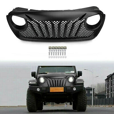 New Style Front Grill Grille With Mesh Inserts For Jeep Wrangler JL 2018-2019 PY