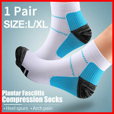 Ankle Sox Compression Socks Heel Plantar Sleeves Foot Fasciitis Pain Relief
