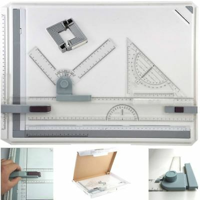 A3 Drawing Board Table With Parallel Motion & Adjustable Angle Office Lot u5