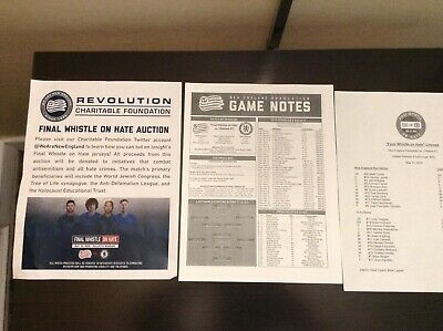 new england Boston revolution v Chelsea 15/5/19 press pack 32 page game notes
