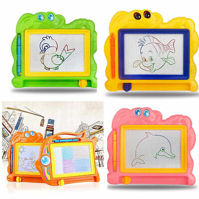 Cartoon Kids Early Educational Toys Erasable Magnetic Drawing Board + Pen Toy AU