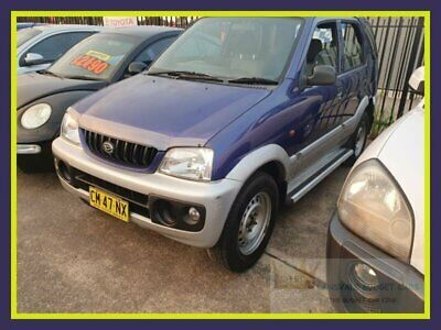2002 Daihatsu Terios J102 DX Blue Manual M Wagon