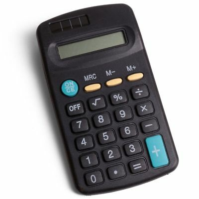 Hand Held Mini Size Pocket Office Calculator Solar Battery 8 DIGIT Home School