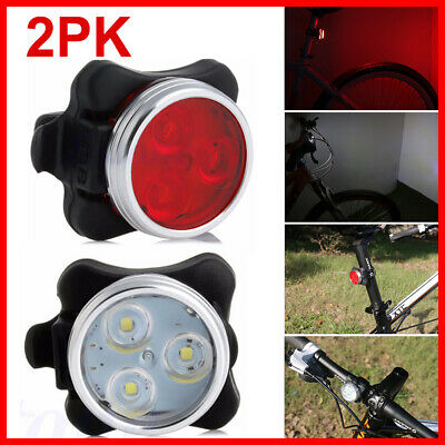 Waterproof IPX4 Bicycle Rechargeable USB Front Rear Lamp Tail Light Bike Lights