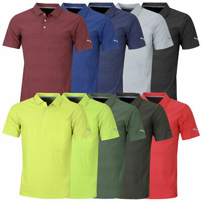 Puma Golf Mens 2019 Pounce Aston Golf Wicking Tricot Polo Shirt 48% OFF RRP