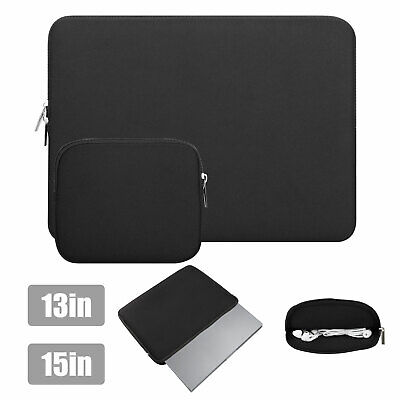 "Waterproof Soft Laptop Sleeve Case Bag Cover Pouch for MacBook Notebook 13"" 15"""