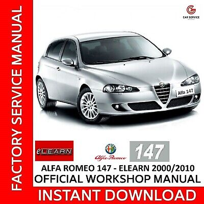 Alfa Romeo 147 Elearn - Manuale Officina Workshop Manual Service Wiring Diagrams