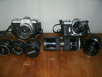 Vintage Photography - Collection Of Camera's / Zoom Lenses / Accessories