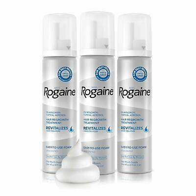 NEW Men's Rogaine 5% Minoxidil Foam for Hair Loss and Hair Regrowth - FREE GIFT