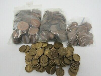 Job Lot of UK Old Pennies, !/2 Pennies, Farthings and 3d coins (2.60kgs) WARJBC7