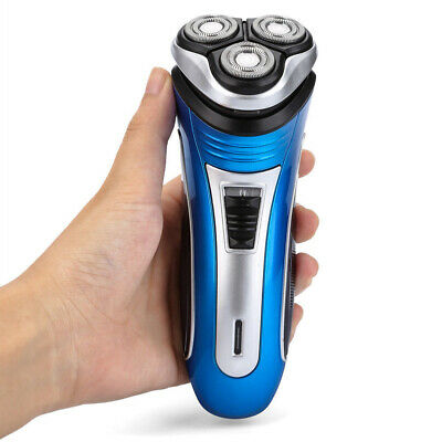 Rotary Electric Mens Shaver Rechargeable 3D Triple Floating Head Trimmer Razor