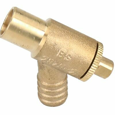 15mm Type A Brass Drain Cock Drainage Anti-spill Gland Fitting Release WRAS