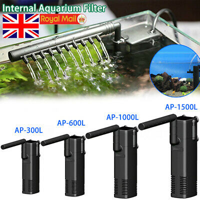 Hidom Internal Aquarium Fish Tank Filter Filtration Submersible Pump Spray Bar.