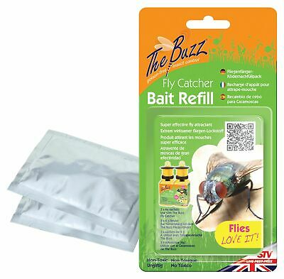3 x 4g Sachets Fly Attractant Bait Refills For Fly Traps Catcher Bottles