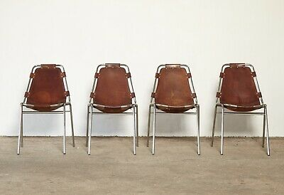 A Set of 4 Les Arcs Chairs by Charlotte Perriand, 1970s