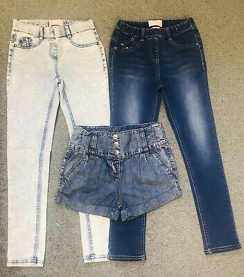 Girls Set Of 3Jeggings.High Waist Shorts.Aged 9 Years.Bundles.From NEXT.Skinny.