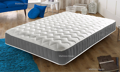 Brand New Grey Memory Foam Topped Sprung Mattress 3Ft 4Ft 4Ft6 Double 5Ft Uk