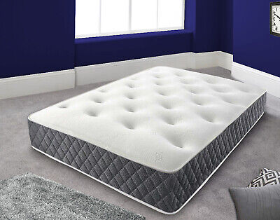 Reflex Orthopaedic Spring Firm Mattress Single 3FT 4FT 4FT6 Double 5FT King 6FT