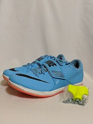 hot sale online b5f41 b0c61 NEW Nike Zoom High Jump Elite Track With Spikes Blue Crimson, 806561-446