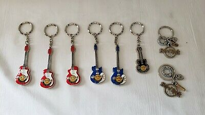 Hard Rock Cafe Las Vegas Guitar & Other Key Chains New