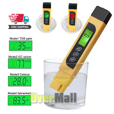 3 in 1 Digital Water Quality Tester TDS EC Purity Meter TEMP PPM Test Filter Pen