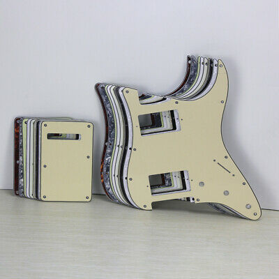 Set of Strat Electric Guitar Pickguard HH 11 Holes & Tremolo Cover Scratch Plate