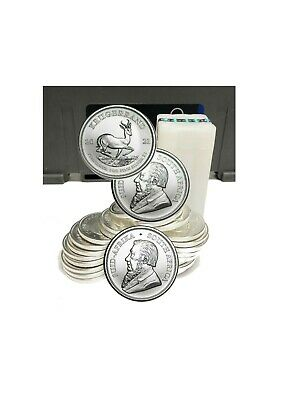 Roll of 25 Silver 2019 South Africa 1 oz Silver Krugerrand .999 fine coins
