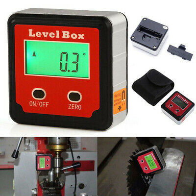 Level Box 360° Magnetic Digital Inclinometer Angle Finder Gauge Meter Protractor
