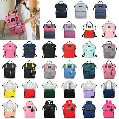 Diaper Bag Large Capacity Mummy Nursing Backpack Totes Waterproof Satchel Travel