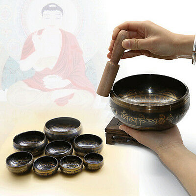Buddhism Tibetan Hammered Yoga Copper Chakra Hammered Meditation Singing Bowl CF