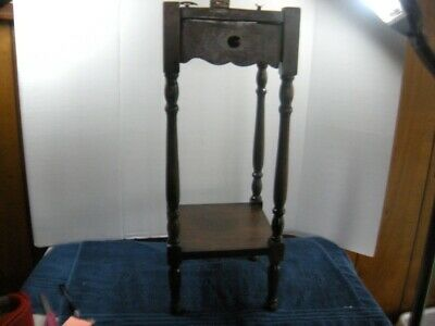 ANTIQUE  ARTS &  CRAFTS SMOKING STAND ash tray match holder cigar cigarette hold