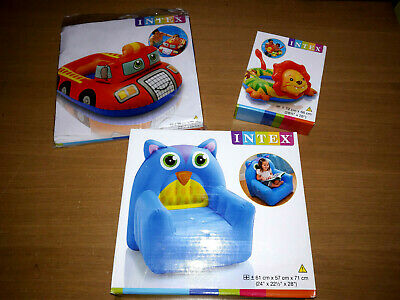 inflatable Owl Chair Lion Swim Ring Inflatable Fire Engine Pool Cruiser NEW Toys