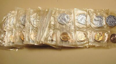 "1961  Lincoln  Memorial  Proof  Roll   "" 50  Coins  In  Mint  Cello ""  #505"