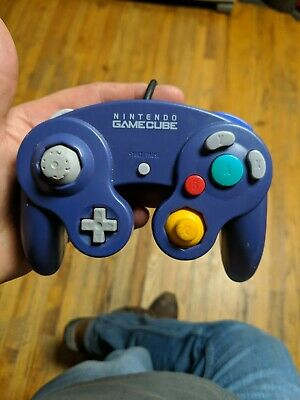 Official Nintendo GameCube Original Indigo Purple Controller (Tested, Working)