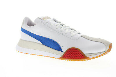 Puma Turin 0 Mens White Leather Low Top Lace Up Sneakers Shoes
