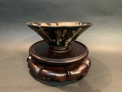 Chinese Jizhou Kiln Black Glaze Porcelain Dynasty Tea Pot teacup Cup
