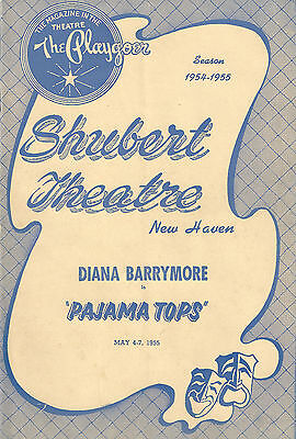 "Diana Barrymore ""PAJAMA TOPS"" Leopold Badia / Brook Byron 1955 New Haven Program"