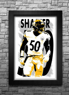low priced fa9fd e12f5 PITTSBURGH STEELERS #50 Ryan Shazier limited color rush ...