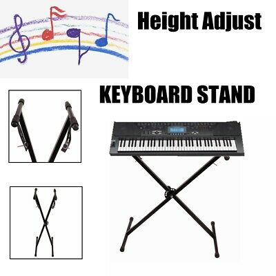 Pro Music Keyboard Piano X-Stand Electric Organ Rack Height Adjustable METAL