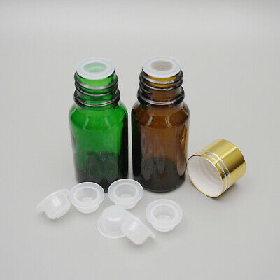 100Pcs Plastic Concave Stoppers Plugs Replacements for 18mm Essential Oil Bottle