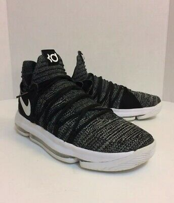 sports shoes 39bec 7091b NIKE ZOOM KD 10 Kevin Durant Oreo/white basketball shoes men's size 10  Pre-owned