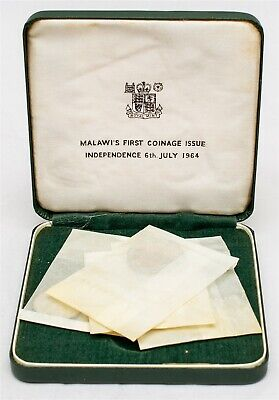 1964 Malawi 4 Coin Proof Set - Mint Box - Elephant - Coin Sealed