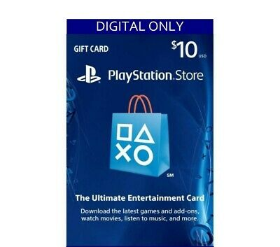 PlayStation Network Store PSN Card $10 (Digital Code) ONLY EMAIL DELIVERY