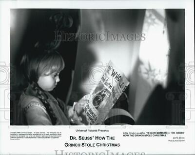 """2000 Press Photo Actor Taylor Momsen In """"How The Grinch Stole Christmas"""""""