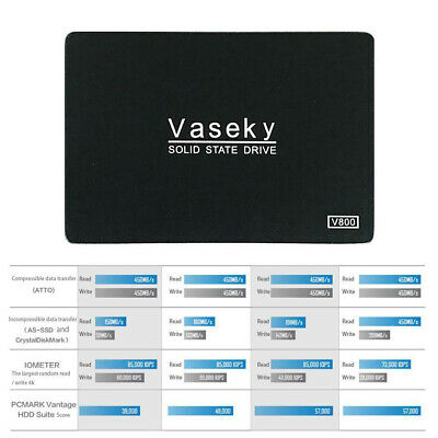 Vaseky 500GB 2.5'' SATA III High Speed SSD Solid State Drive Hard Disk Laptop