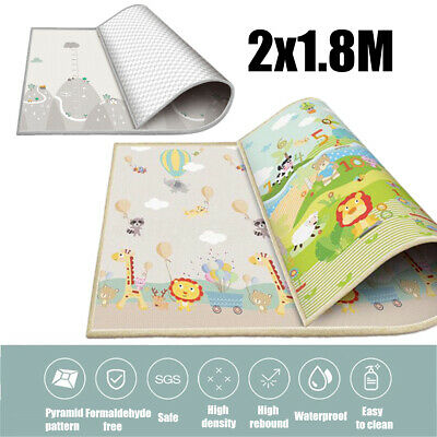 200x180cm Baby Crawling Thick Play  Game Rug Children Carpet Floorcover