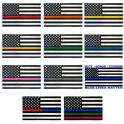 Thin Line Flag 3x5ft Polyester - Red Line - Green Line - Yellow Line - Blue Line