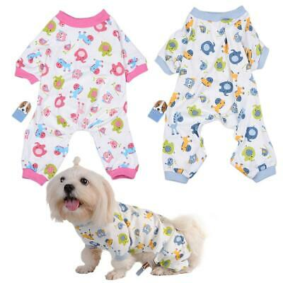 Cotton Pony Pattern Pajamas Comfy Sleepwear Air-conditioning Suit For Pet Dog