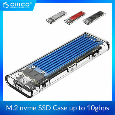 ORICO Type-C NVME M.2 HDD Box USB C SSD Enclosure Housing Case up to GEN2 10Gbps